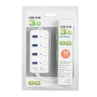 Universal 4-Port USB 3.0 Charger w / Switches - Branco