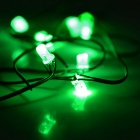 8-LED Green Light Performing Light String w/ Thumb - Black + Brown