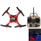 JJRC H8D 2.4GHz 4-CH R/C Quadcopter w/ 6-Axis Gyro / 2.0MP Camera / Lamp - Red + Silver