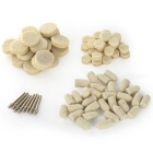 Multifunktionale Zylinder & amp; Oblate Shaped Wolle Polierköpfe Kits - Weiß + Silber (88 PCS)
