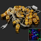 3W 20-LED String Light RGB 80lm - White + Golden (4M / AC 220V / EU Plug)