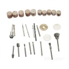 28-in-1 Stainless Steel + Copper + PVC Wood Grinding / Milling Tool Set - Silver + Golden