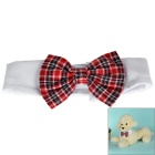 Cotton Pet Bow-Tie for Small / Middle Size Cats / Dogs - White + Red + Multicolor (Size M)