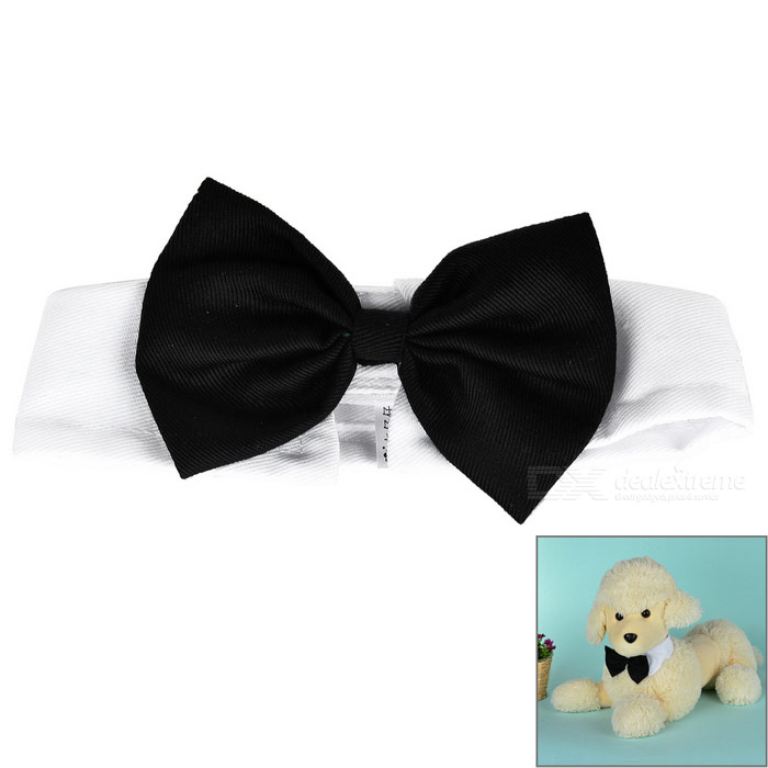 Pet Cotton Bow-Tie for Cats / Dogs - Black + White + Multicolor (M)
