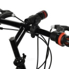 Red Tail Light + 1-LED 3-Mode White Zooming Flashlight for Bike - Red