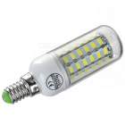 E14 9W LED Corn Lamps Cold White 600lm 56-SMD - White + Silver (5PCS)