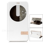 USAMS Muge Series Protective PU Leather + PC Case w/ Stand for ASUS ZenFone 2 - White
