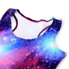 Women's Sexy Starry Sky Printing Nylon + Spandex Vest Top - Red + Blue