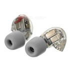 T100 Isolation Memory Foam In-Ear Earphone Covers Tips - Light Grey