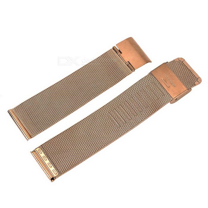 Coarse Pattern Watch Band for APPLE WATCH 38mm - Champagne GoldWearable Device Accessories<br>Form ColorRose GoldQuantity1 DX.PCM.Model.AttributeModel.UnitMaterialStainless steelPacking List1 x Band<br>