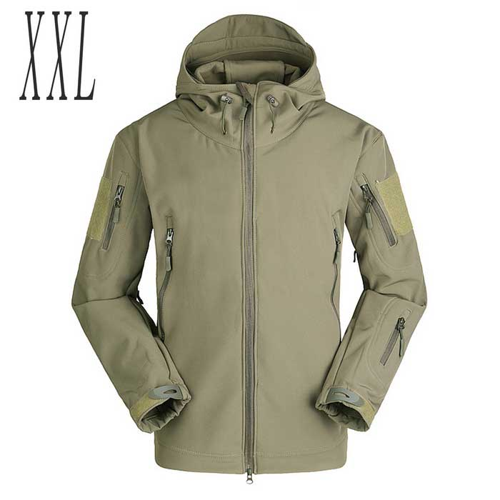 Herren Herbst & amp; Winter Outdoor wasserdicht winddicht Tactical-Jacken-Mantel - Army Green (XXL)