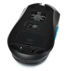RII RM500 2.4GHz Wireless 1000/1600DPI LED Mouse - Black (2*AAA)