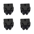 Jtron 250V 16A 3-Pin Power Socket - Black (4PCS)