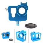 PANNOVO CNC Aluminum Alloy Camera Protective Case Holder for GoPro Hero 3 / 3+ / 4 - Blue