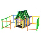 Colorful Plastic Stick Building Blocks Toy - Green + Yellow + Multi-Colored