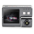 "1080P 2.0"" TFT 2/3"" CMOS DVR w/ Two 1.3MP Cameras for Bicycle / Motorcycle / Car / Scooter - Grey"