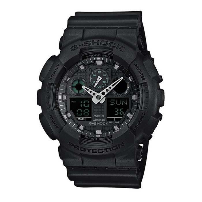 Casio G-Shock GA-100MB-1AER Men's Analog-Digital Watch-Black