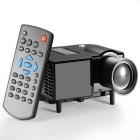 Vivibright GP5S Mini Home LED Projector w/ VGA / AV / SD / USB / HDMI / DC In - Black