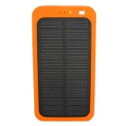 "Universal 5V 1A ""13800mAh"" Li-Polymer Solar Power Bank Charger - Orange"
