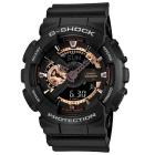 Genuine Casio G-Shock Special Color Model GA-110RG-1ADR Rose Gold Dial Analog-Digital Watch - Black