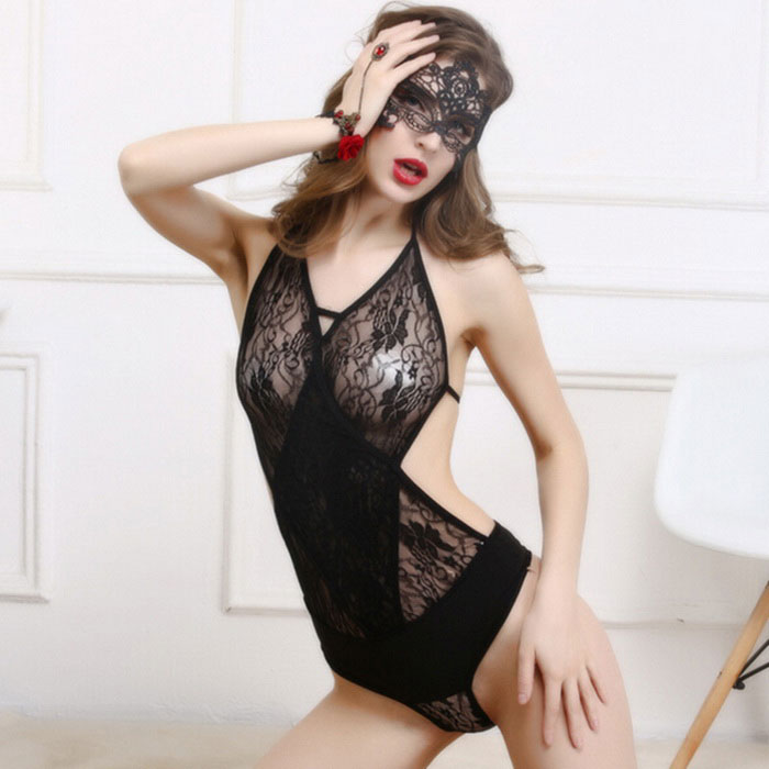 Women's Sexy Teddies Lingerie Underwear Sleepwear Nightwear - Black