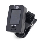 "IRIN T -100 1.4"" LCD Display 360 Degrees Rotate PVC Clip-on Tuner - Black (1 x CR2032)"