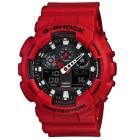 Genuine Casio G-Shock GA-100B-4AER Men's Analog-Digital Watch - Red