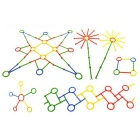 Magische Mixed Colored ABS Bastelspielzeug Sticks + Circles (140 PCS)