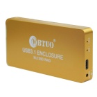 WBTUO USB3.1 Type-C to 2-Port NGFF(M.2) SSD RAID HDD Enclosure - Golden