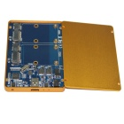 WBTUO USB3.1 Type-C to MSATA SSD RAID HDD Enclosure - Golden Yellow