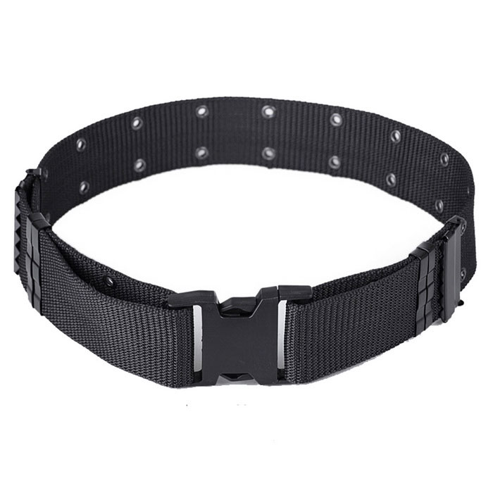 Outdoor S Tactical Nylon Fiber Belt w/ Buckle - BlackBelts and Buckles<br>Form ColorBlackQuantity1 DX.PCM.Model.AttributeModel.UnitShade Of ColorBlackMaterial600D nylon fibersGenderUnisexSuitable forAdultsBelt Length120 DX.PCM.Model.AttributeModel.UnitBelt Width5.5 DX.PCM.Model.AttributeModel.UnitPacking List1 x Belt<br>