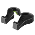 Cheshan CS-N05A Creative Semi-Open Design Car Seat Tuoli Hanger Hook - Musta (2kpl)