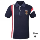 Men's Striped Short Sleeves POLO T-shirt - Sapphire Blue (M)