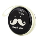 Stylish Mustache Pattern Storage Bag for Earphones / Earhook Headset - Black + White