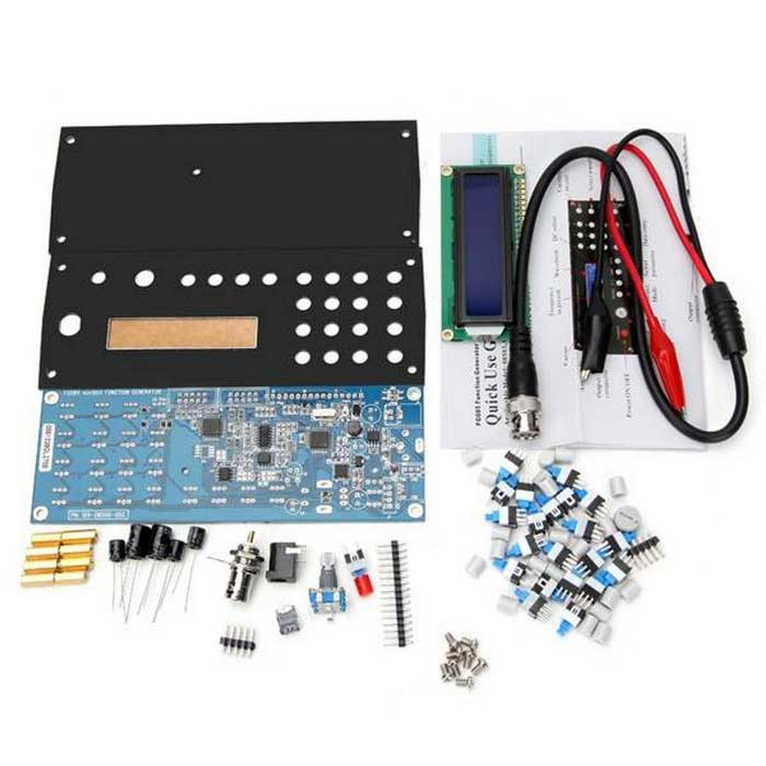 ZnDiy-BRY FG085 DDS Digital Synthesis Generator Kit w/ Panel - BlueKits<br>Form ColorBlueModelFG085Quantity1 DX.PCM.Model.AttributeModel.UnitMaterialPCBEnglish Manual / SpecYesDownload Link   http://pan.baidu.com/s/1ntBr6zfPacking List1 x USB connector5 x Conpacitors1 x DC connector3 x Pin headers1 x LCD screen1 x Connection cable (54CM)1 x Lockable switch20 x Non-lockable switches1 x Rotary potentiometer1 x BNC connector1 x Metal lead1 x Knob cap2 x Panels4 x M3X12 standoff pillars4 x M3X12+6 standoff pillars8 x M3 X 5 screws1 x PCB board<br>