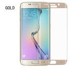 ASLING 3D Arc 0.2mm Thickness Tempered Glass Screen Protector for Samsung Galaxy S6 Edge - Gold