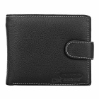 Stylish Head Layer Cowhide Leather Folded Wallet Purse for Men