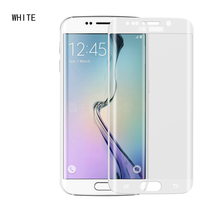 ASLING 0.2mm Full Tempered Glass Film for Samsung S6 Edge - White