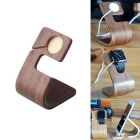 Wooden Charging Dock Stand Holder Desktop Mount for Apple Watch / IPHONE / IPAD / Smartphone