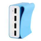 LOCA 4-USB adaptador de corriente para IPHONE6, Tablet PC - azul claro (UE plug)