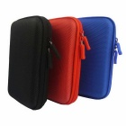 "Protective Shockproof Bag Pouch for 2.5"" Hard Disk Drive + More - Blue"