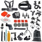 37-in-1 Hot Outdoor Sports Camera Accessories Kit For GoPro Hero 4 / 3+ / 3 / 2 / 1 - Black
