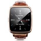 OUKITEL A28 MT2502A 1.54 Inch IPS Bluetooth 4.0 Smart Watch Heart Rate Monitor - Gold + Brown