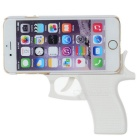Creative Gun Shape Protective Plastic Back Case Cover for IPHONE 6 - White