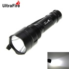 UltraFire XM-L2 1-LED 1000lm 8-Mode Cool White SMO Reflector Flashlight Torch - Black (1 x 18650)