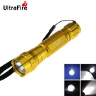 Ultrafire WF-15 XM-L2 1-LED 800lm 8-Mode Cool White SMO Reflector Flashlight Torch - Golden(1x18650)