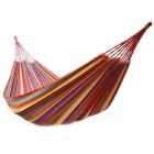 Portable Outdoor Camping Hiking Canvas Swing Hammock - Red + Blue + Multi-Colored