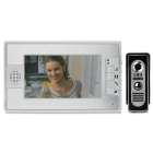 "7"" TFT Color Video Door Phone System w/ Rainproof Cover / Night Vision Camera - Silver"