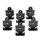 Aluminum Alloy Round Shaped Shooting Practice Targets for BB Gun - Black + White (6 PCS)
