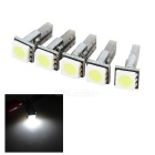 T5 0.2W Car Instrument Lamps Cool White 6500K 25lm SMD 5050 - Black + Yellow (DC 12V / 5 PCS)
